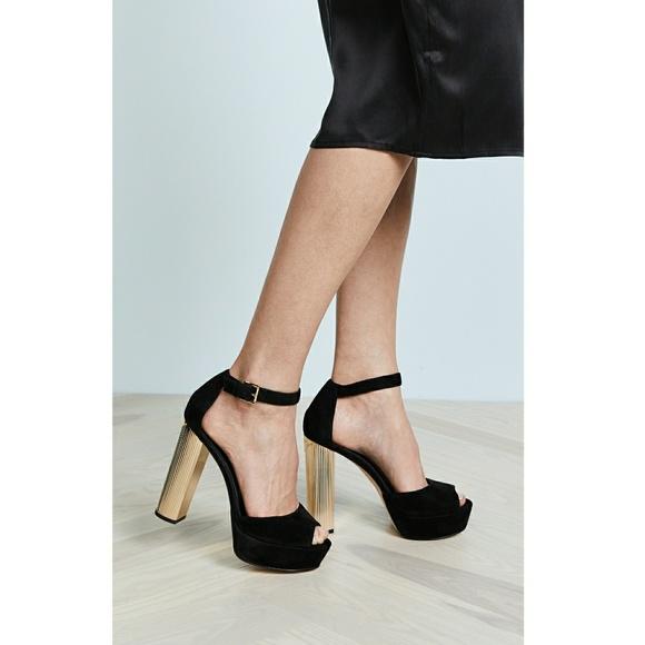 MICHAEL KORS Paloma Platform Sandals Peep-Toe